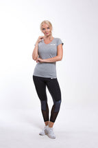 OMARI V Neck T-shirt Grey