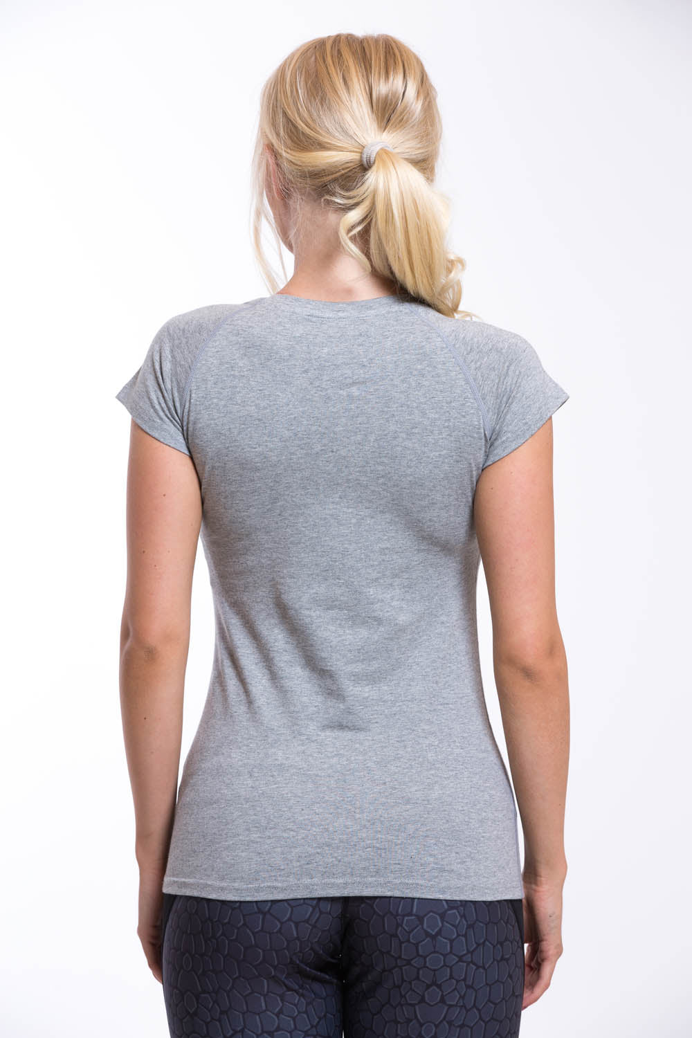 OMARI Round Neck T-shirt Grey