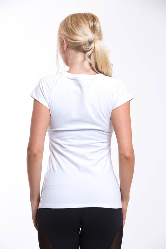 OMARI Round Neck T-shirt White