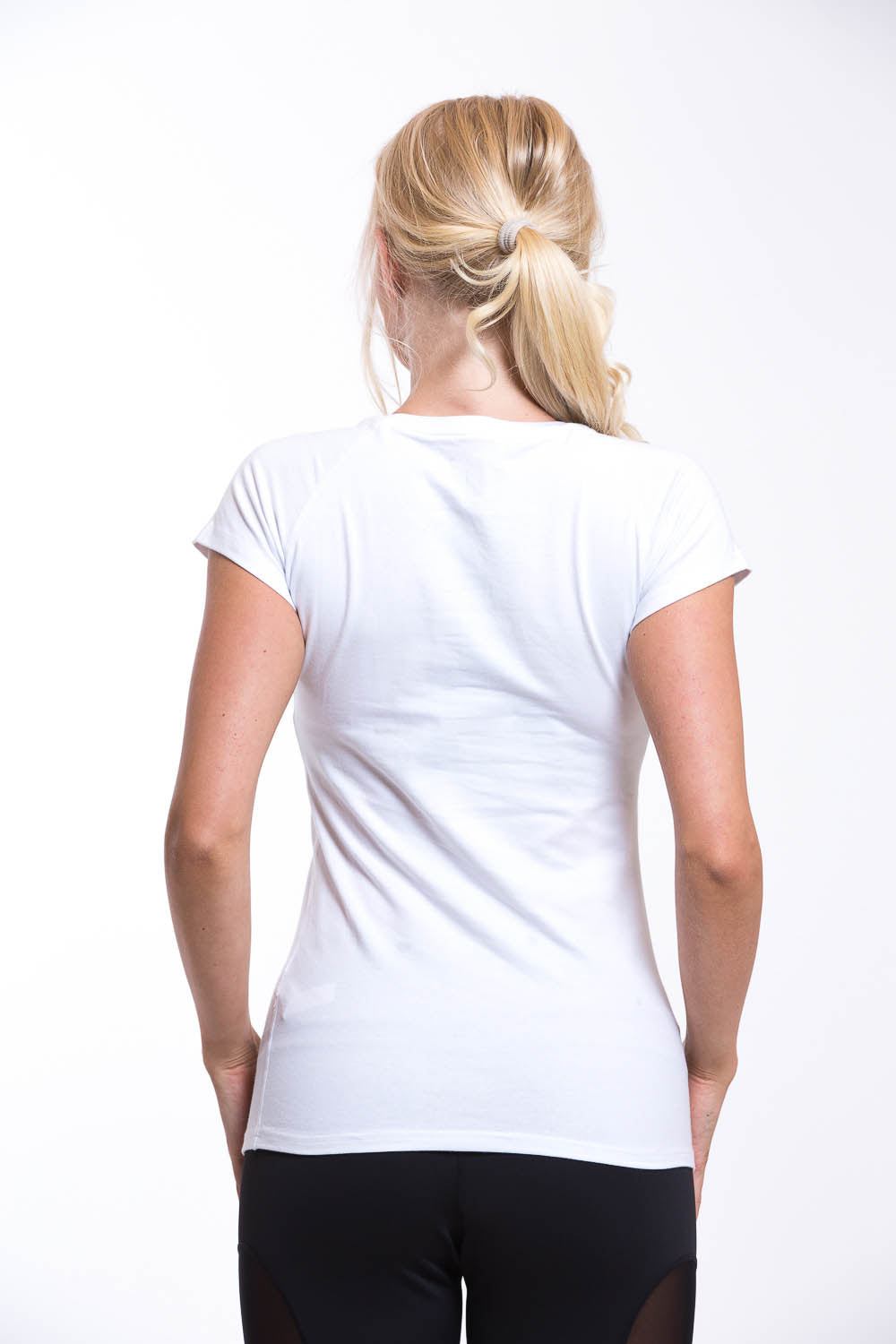 OMARI V Neck T-shirt White