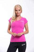 OMARI V Neck T-shirt Pink