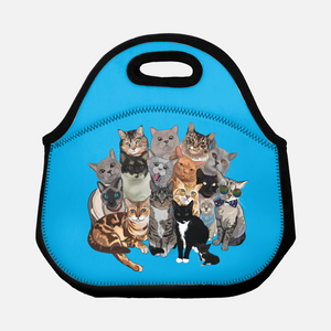 Cat Pile Lunch Tote | Multiple colors-MrsCopyCat