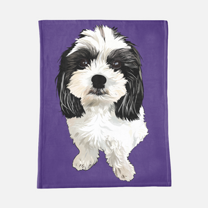 Custom Pet Portrait Blanket-MrsCopyCat