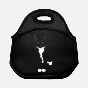 "Tuxedo Cat Lunch Tote | ""Picasso"" - mrscopycat"