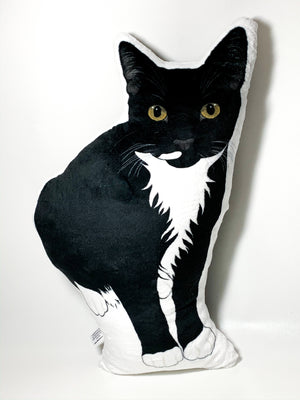 Tuxedo Cat Shaped Plush Pillow | Picasso-MrsCopyCat