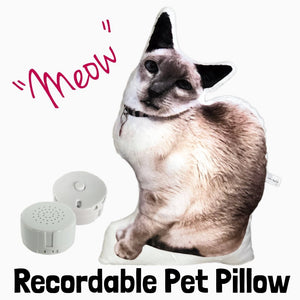 Recordable Custom Pet Photo Pillow-MrsCopyCat