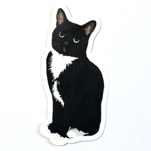 Tuxedo Cat DIE Cut Vinyl Sticker - mrscopycat