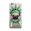 Lady Liberty Pug iPhone Case | Funny Dog Phone Case-MrsCopyCat