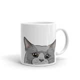 Russian Blue Cat Mug | Sleepy Cat-MrsCopyCat