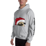 Christmas Hooded Sweatshirt | Santa Dog Hoodie - mrscopycat