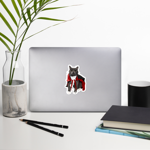 Vampire Cat DIE Cut Vinyl Sticker-MrsCopyCat