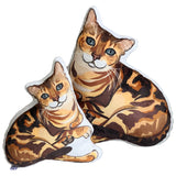 Bengal Cat Shaped Plush Pillow | Leo-MrsCopyCat