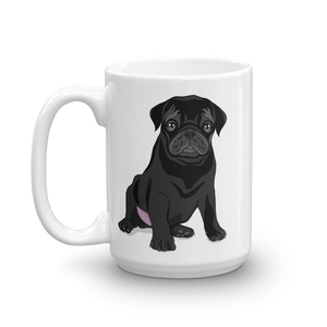 Black Pug Coffee Mug Puggle Gifts Pug Lover Gift Dog Coffee Mug