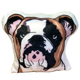 Bulldog Shaped Plush Pillow-MrsCopyCat