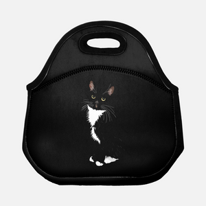 "Tuxedo Cat Lunch Tote | ""Paloma"" - mrscopycat"