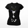 Tuxedo Cat T-shirt for Women| Paloma-MrsCopyCat