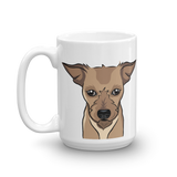 Terrier Mix Face Coffee Mug | Scrappy Doo-MrsCopyCat