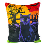 Vampire Bat Cat Plush Throw Pillow-MrsCopyCat