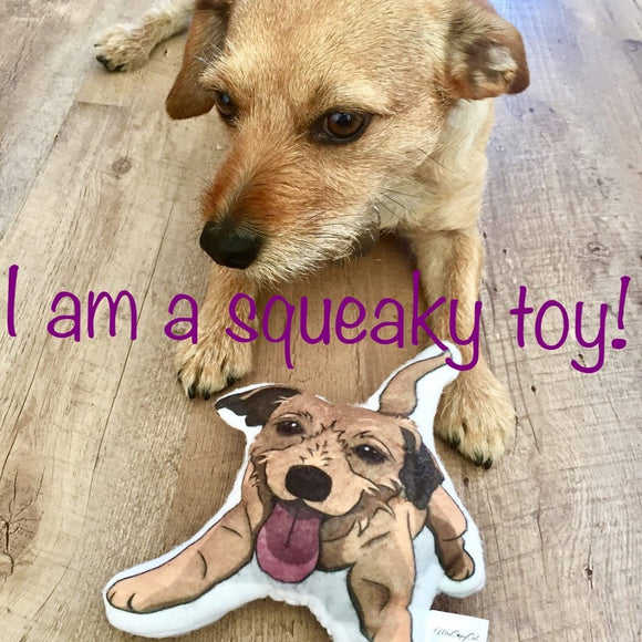 Gift for Dogs, Custom Dog Squeaky Toy or Terrier Mix Dog Shaped Stuffed Toy, Puppy Dog Toy, Custom Dog Toy, Small Pet Toy, Dog Lover Gift