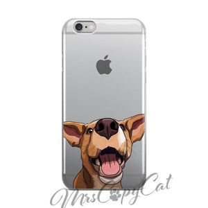 Red Heeler Rottweiler iPhone Case - Dog iPhone 5/5s/5SE/6/6s/6 plus/6s plus/7/7 plus -  Happy Dog Cartoon Phone Cases - Dog Lover Gift