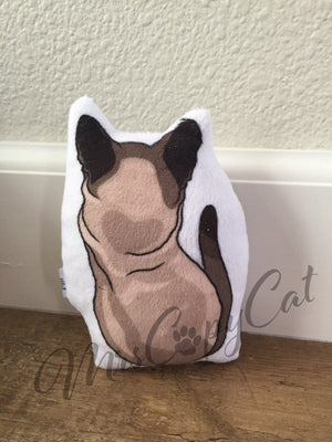 Cat Nip Toy, Siamese Cat Shaped, Cute Cat Organic Catnip Toy, Gift for Cat, Kitten Toy, Unique Cat Plush Toy, Cat Pillow Toy, Cat Lover Gift