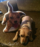 Terrier Mix Shaped Plush pillow | Scrappy Doo-MrsCopyCat