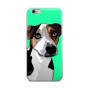 Pitbull iPhone Case, Pitbull Mix, Dog Phone Case, Dog Lover Gift, Phone Cover, Dog Cartoon, Gift for Dad, Dog Mom, Personalized Phone Case