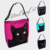 Cat Day Tote | Neoprene Shoulder Bag - mrscopycat