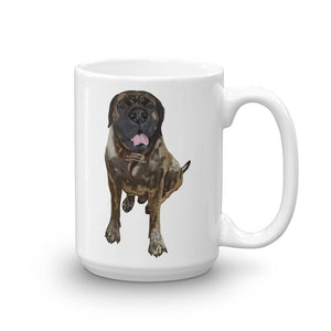 Brindle Mastiff Mug - Mastiff Coffee Mug - English Bulldog Cup - Christmas Gift Idea Dog Mom, Dog Dad - Stocking Stuffer - Dog Lover Gift