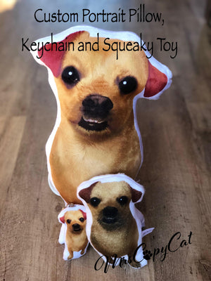 Chihuahua Squeaky Toy - Toy for small Dogs - Gift for Dogs - Dog Pillow Pet Toy - Handmade Dog Toy - Dog with Underbite - Dog Lover Gift