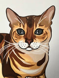 Bengal Cat Art Print - mrscopycat