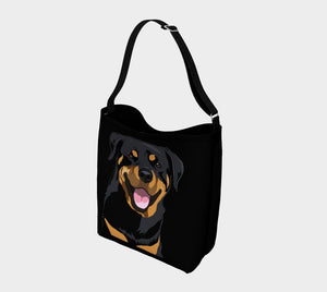 Rottweiler Bag, Rottweiler Shopping Tote, Dog Neoprene Bag, Dog Lover, Biking Bag, Rottweiler Mom, Grocery Bag, Unique Dog Gift, Dog Purse