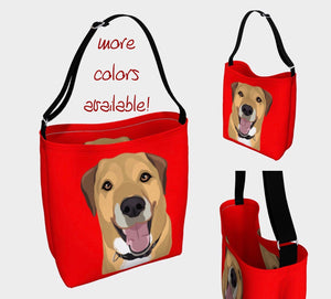 Dog Tote Bag, Hound Dog Mix Mom, Dog Lover Gift, Dog Beach Bag, Neoprene Purse, Dog Grocery Bag, Shopping Tote, Biking Bag, Unique Purse