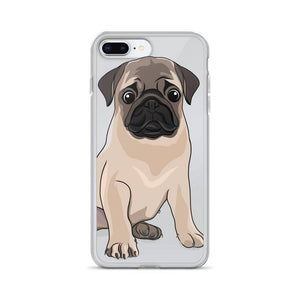 Pug iPhone Case, Dog Phone Case, Pug Lover, Puggle, Cute Dog, Pet Lover, Sad Dog Face, Dog Gift idea, Girlfriend Birthday, Dog Gift for Her