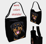 "Neoprene Strap Shoulder Bag | Dog Day Tote Style ""Rottie"" - mrscopycat"
