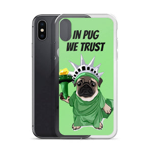 Lady Liberty Pug iPhone Case | In Pug We Trust-MrsCopyCat