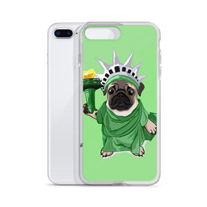 Statue of Liberty Pug iPhone Case-MrsCopyCat