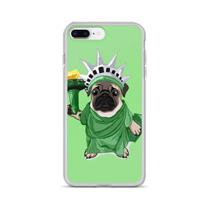 Statue of Liberty Pug iPhone Case - mrscopycat