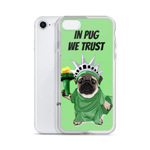 Lady Liberty Pug iPhone Case | In Pug We Trust - mrscopycat