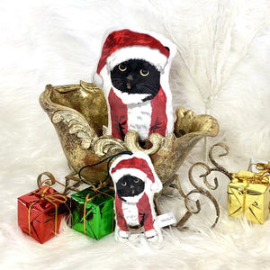 Tuxedo Cat Santa | Christmas Ornament - mrscopycat
