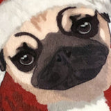 Santa Pug Plush Pillow | Puppy - mrscopycat