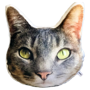 Custom Pet Face Photo Pillow | Head Shaped Plushie-MrsCopyCat
