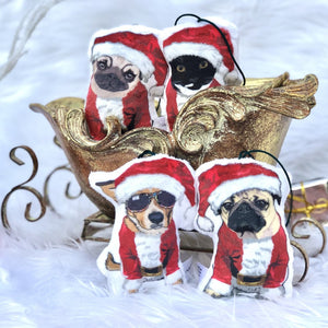 Santa Pets Christmas Ornament | Dogs & Cat Christmas Tree Decor - mrscopycat