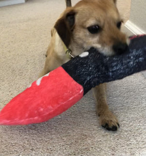 Big Bloody Knife | Dog Squeaky Toy - mrscopycat