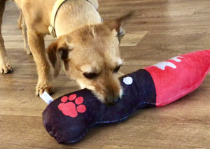 Big Bloody Knife | Dog Squeaky Toy-MrsCopyCat