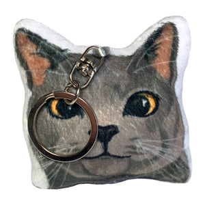 Russian Blue Cat Shaped Plush Pillow | Mike-MrsCopyCat