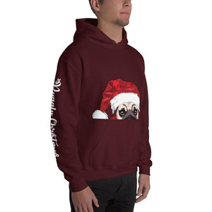 Christmas Hooded Sweatshirt | Junior Santa Dog Hoodie - mrscopycat