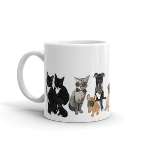 Cats & Dogs Ceramic Coffee Mug - mrscopycat
