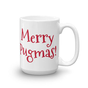 "Christmas Ceramic Coffee Mug | Junior Santa Dog ""Merry Pugmas"" - mrscopycat"