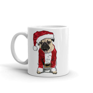 Christmas Ceramic Coffee Mug | Merry Pugmas Santa Pug - mrscopycat